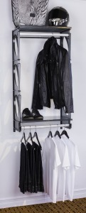 KiO Storage 2-Foot Closet Kit - BLACK