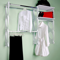 KiO Storage 5-Foot Closet Kit - WHITE