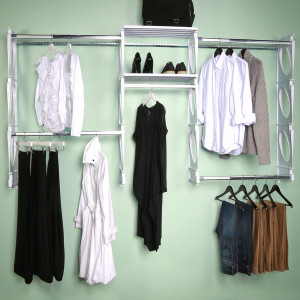 KiO Storage 8-Foot Closet Kit - WHITE