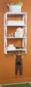 KiO Storage 2-Foot Closet Kit - WHITE w/extra shelves