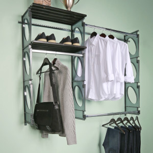 KIO STORAGE 5′ CLOSET KIT – BLACK W/EXTRA SHELVES