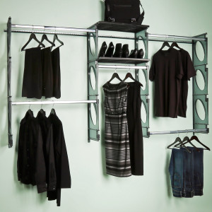 KIO STORAGE 8′ CLOSET KIT – BLACK W/EXTRA SHELVES