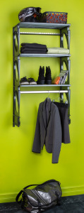 KiO Storage 2' Closet Kit - BLACK w/extra shelves