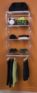 KiO Storage 2' Closet Kit - FROST w/extra shelves