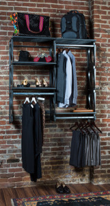 KiO Storage 5' Closet Kit - BLACK w/extra shelves