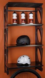 KiO Storage 2-Foot Closet Kit - BLACK w/extra shelves