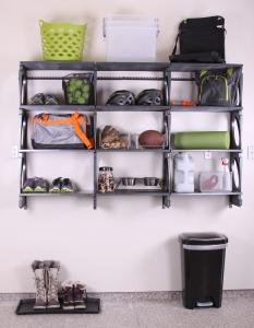 KiO Storage Organizer Kits - BLACK w/extra shelves