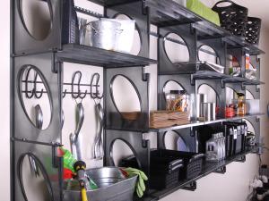 KiO Storage Organizer Kit - BLACK w/extra shelves